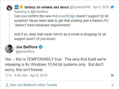 Trình duyệt Edge Chromium của Microsoft vô hiệu hóa 51 dịch vụ của Google, hỗ trợ Windows 10 32-bit