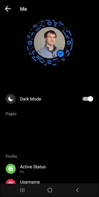 Bật tính năng Dark Mode trên Messenger - bước 3