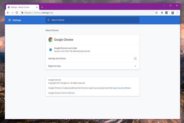Chrome 74 đã có tính năng tăng tốc