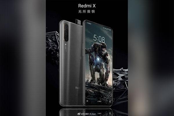 """Flagship Redmi X lộ ảnh với camera trước """"thò thụt"""""""