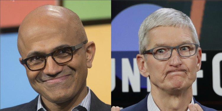 Giống CEO Apple, Satya Nadella cũng thấy giá trị vốn hóa nghìn tỉ USD không có gì đáng để ăn mừng