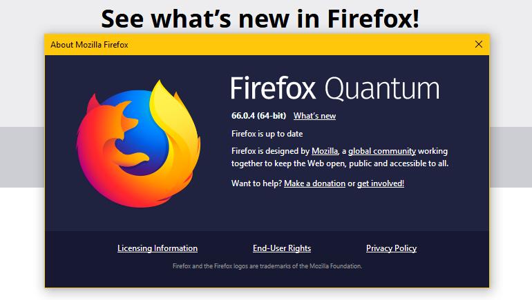 Cập nhật ngay lên Firefox 66.0.4 để sửa lỗi các add-on không hoạt động được
