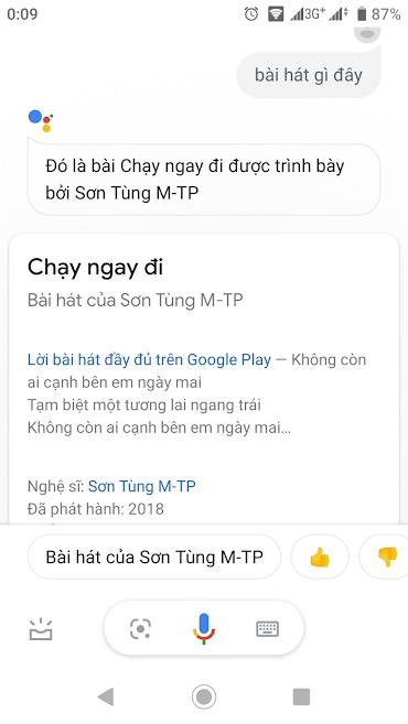 Nhờ Trợ lí Google nhận dạng giúp bạn bài hát xung quanh như thế nào?