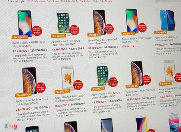 Nhiều cửa hàng ở Hà Nội ngừng bán máy xách tay