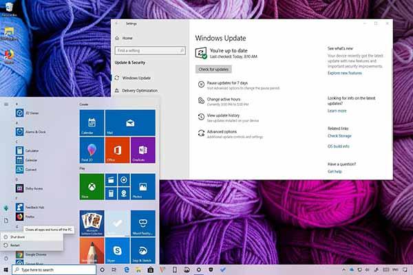 Microsoft phát hành bản cập nhật Windows tháng 5/2019, người dùng có thể tải về hôm nay.