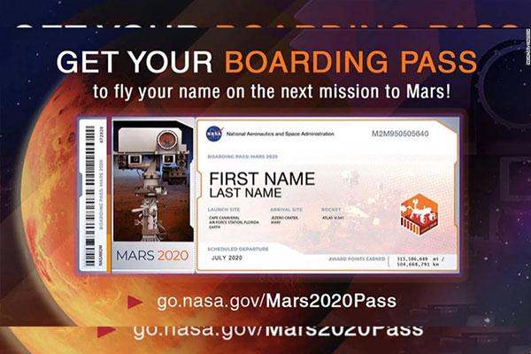 NASA kêu gọi cộng đồng đăng ký gửi tên mình lên sao Hỏa