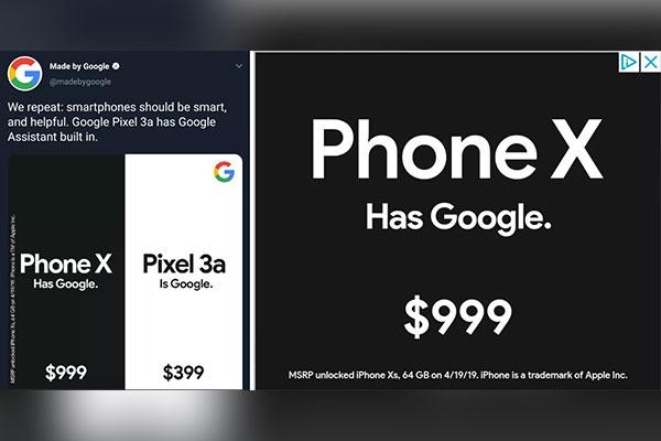 """Google lại """"đá xoáy"""" iPhone: cả hai đều có dịch vụ Google, sao phải trả cả ngàn đô?"""