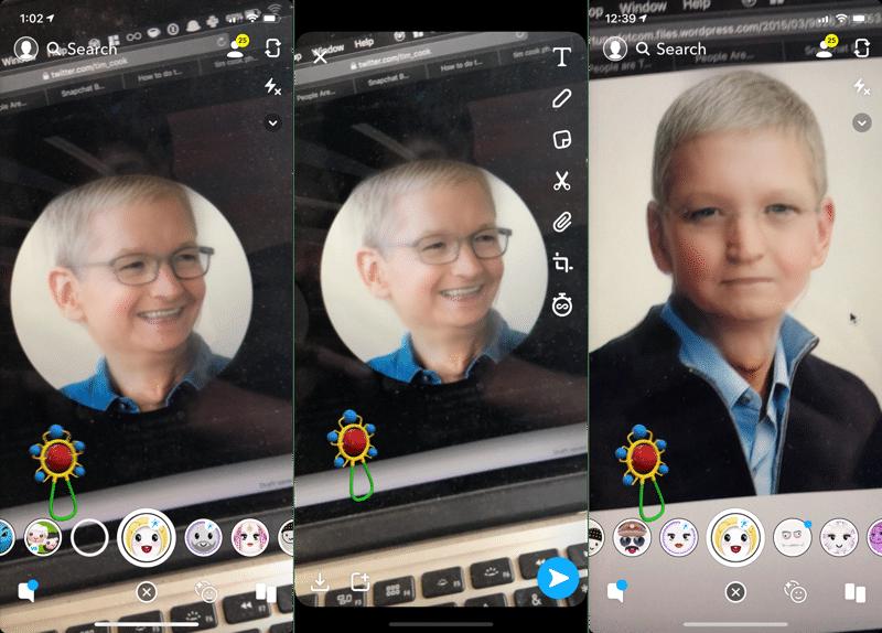 Cách sử dụng bộ lọc baby có trên Snapchat