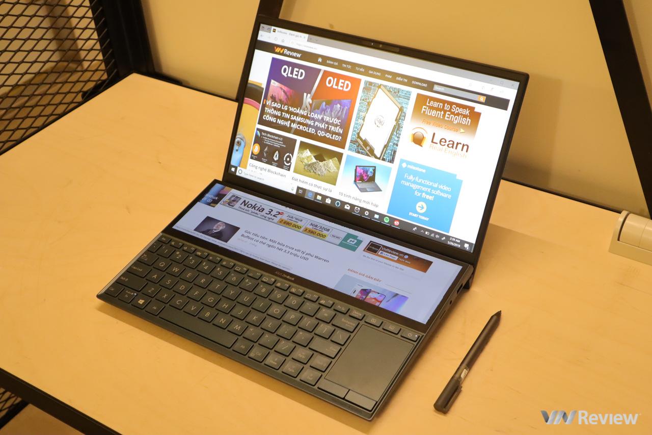 "Computex 2019: Asus ra mắt ZenBook Pro Duo, laptop 2 màn hình cảm ứng 4K ""cực dị"""
