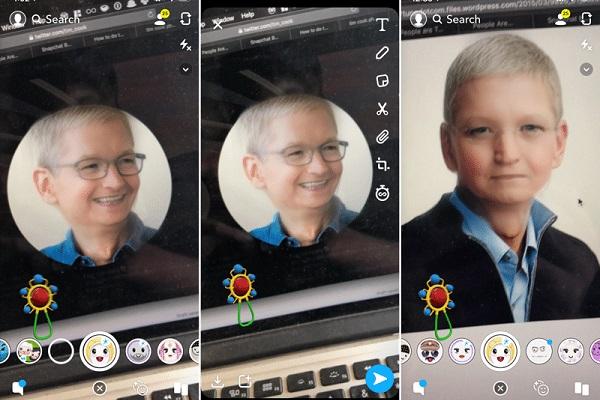 """Cách sử dụng hiệu ứng """"khuôn mặt trẻ thơ"""" đang sốt trên Snapchat"""
