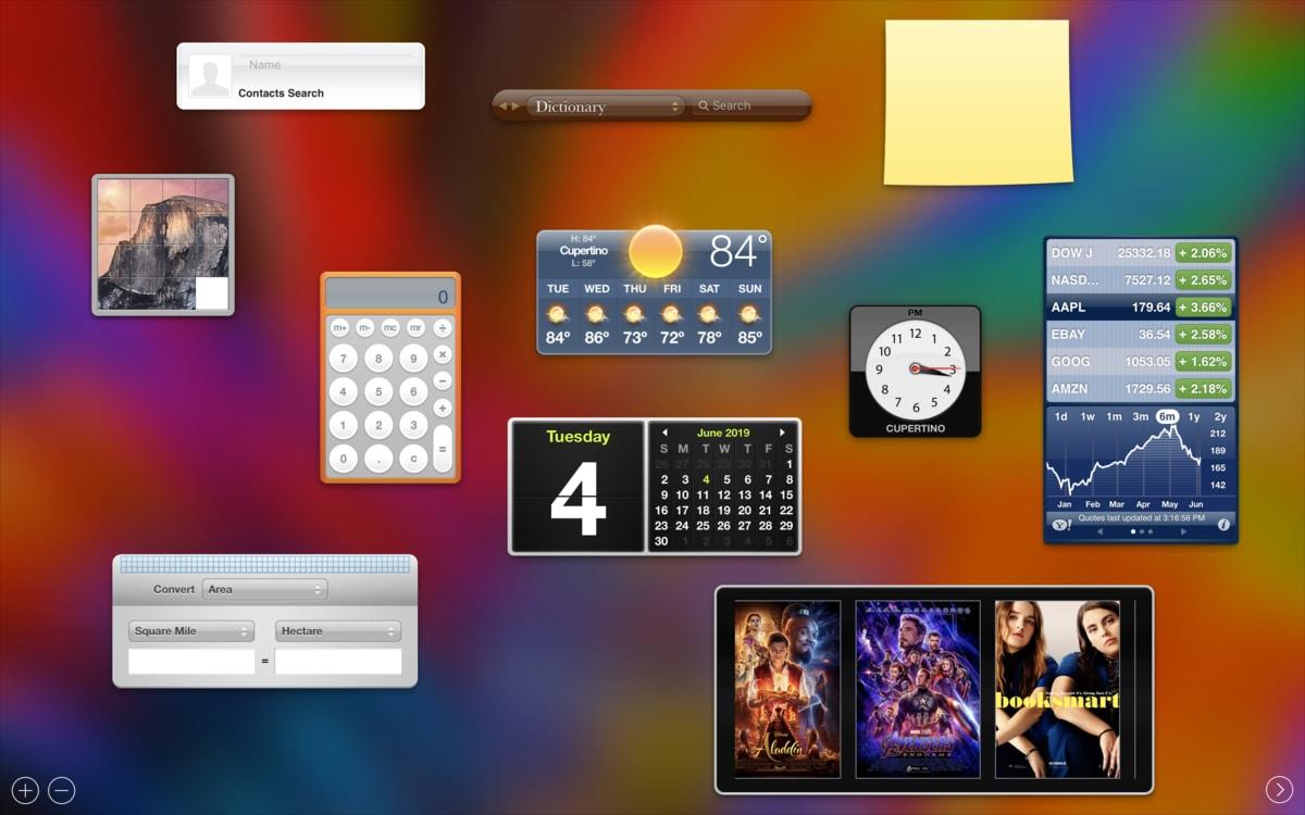 Apple loại bỏ hoàn toàn màn hình Dashboard và các widget khỏi macOS Catalina