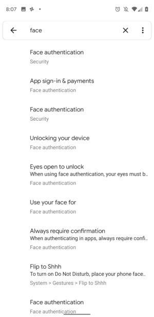 Các thiết lập về xác thực khuôn mặt đã xuất hiện trong bản Android Q beta 4