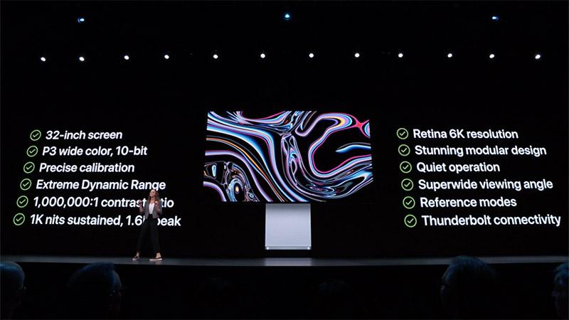 Màn hình Apple 5.000 USD chưa bao gồm chân đế sử dụng tấm nền của ai?