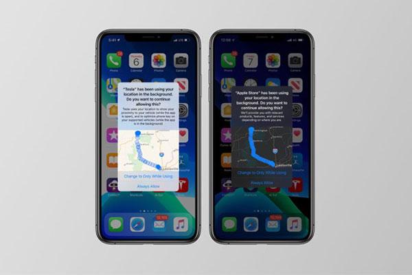iOS 13 sẽ hiện bản đồ nơi ứng dụng theo dõi vị trí của bạn