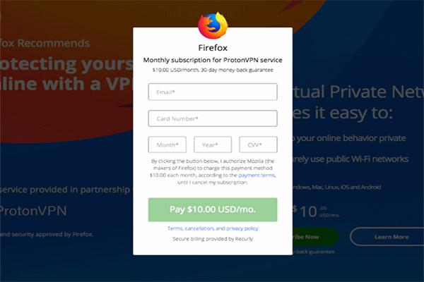 Mozilla sắp triển khai dịch vụ đăng ký trả phí tháng trên Firefox từ tháng 10