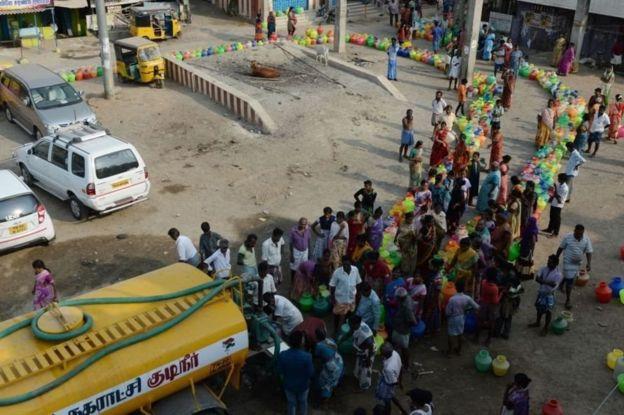 Thành phố lớn thứ 6 Ấn Độ cạn kiệt nước