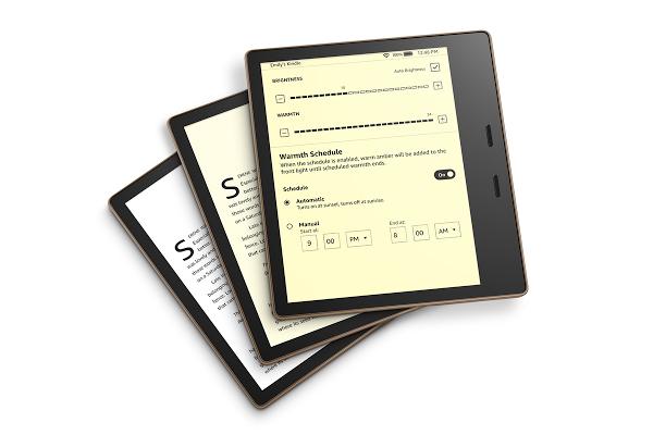 Tính năng điều chỉnh nhiệt độ màu hiển thị nay đã có trên Kindle Oasis, hỗ trợ đọc sách ban đêm