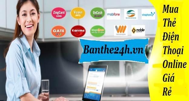 Banthe24h.vn - website cung cấp thẻ điện thoại uy tín