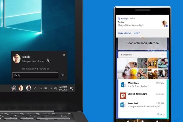 Người dùng đã có thể xem thông báo từ Android ngay trên Windows 10