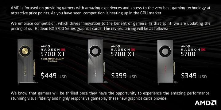 AMD khô máu với Nvidia, giảm giá Radeon RX 5700 ngay trước ngày ra mắt