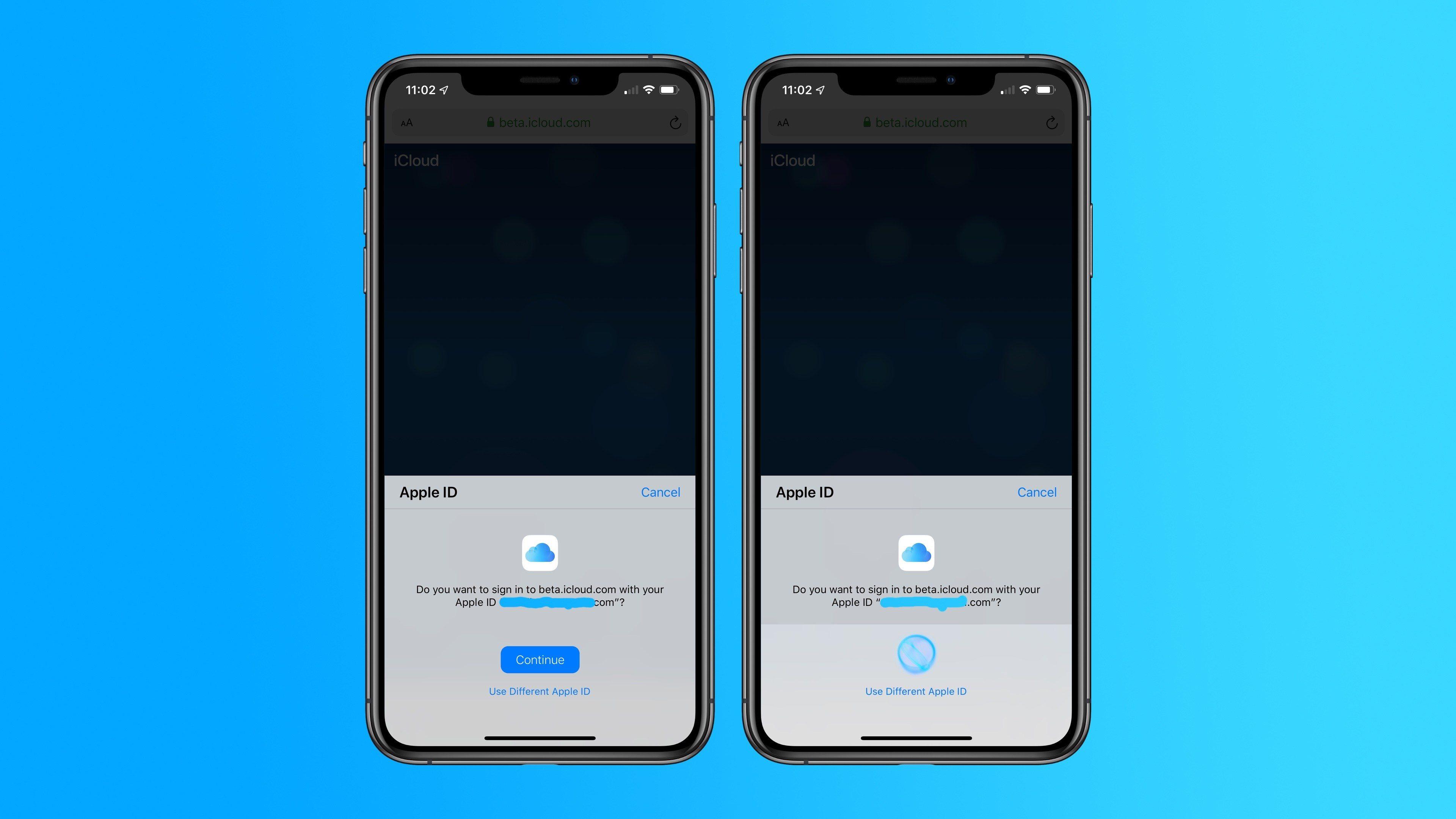 Apple thử nghiệm đăng nhập bằng Face ID và Touch ID cho iCloud.com trên iOS 13; macOS Catalina beta