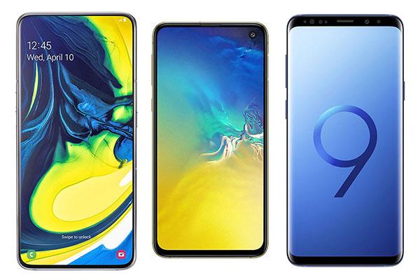 Chênh giá không đáng kể, nên mua Galaxy A80, S10e hay S9+?
