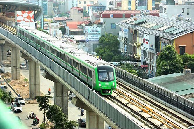 Tiến độ triển khai các tuyến đường sắt đô thị Hà Nội