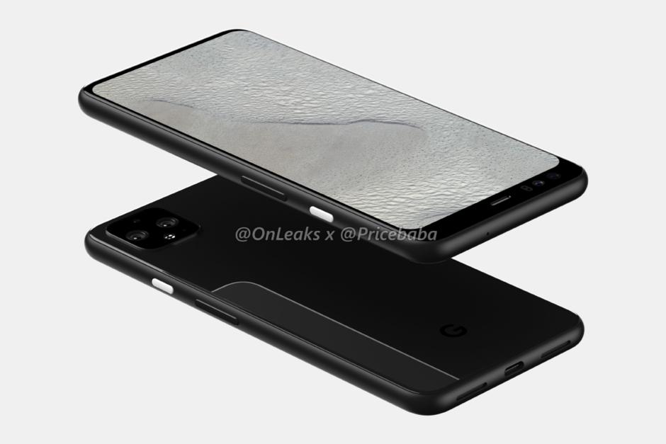 Rò rỉ toàn bộ thiết kế Google Pixel 4 XL: viền màn hình phía trên khá to, không có tai thỏ