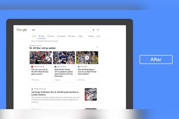 Tab 'News' trên Google Search có giao diện mới, tập trung vào nội dung bài viết
