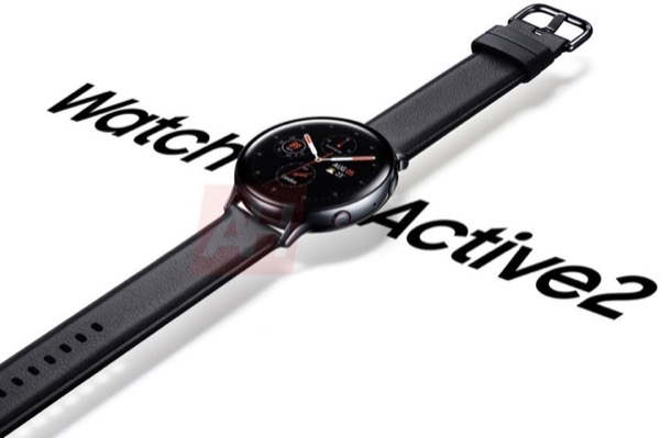 Galaxy Watch Active 2 lộ ảnh render, nút nguồn viền đỏ giống Apple Watch