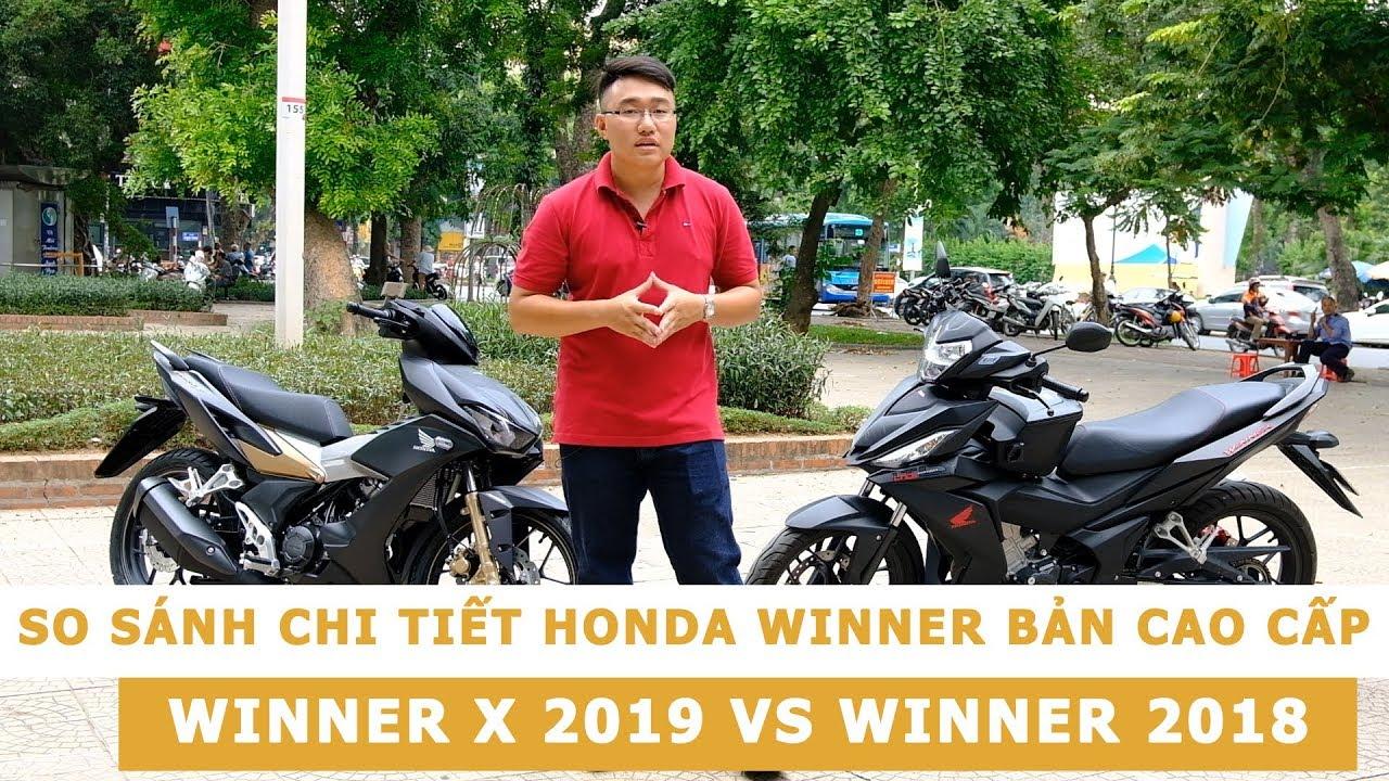 So sánh chi tiết 2 phiên bản cao cấp Honda Winner X 2019 ABS và Winner 2018