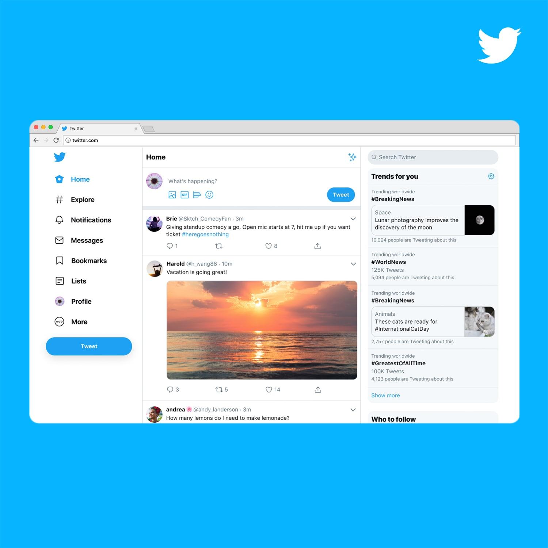 Twitter thiết kế lại giao diện web, bổ sung nhiều tính năng hữu ích từ app di động