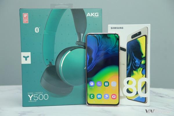 """Mở hộp Galaxy A80 chính hãng: Ấn tượng cụm camera """"vừa xoay vừa trượt"""" độc đáo"""