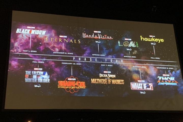 Marvel chính thức công bố danh sách các tựa phim thuộc Phase 4 của MCU