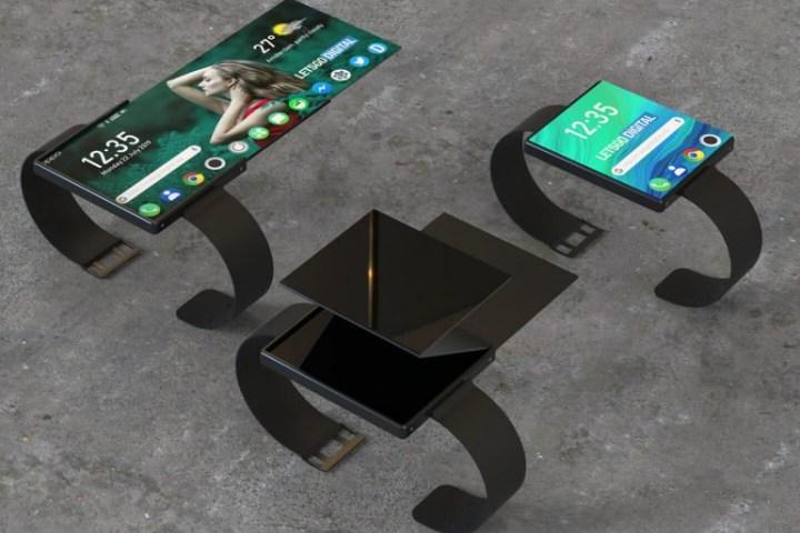 Lộ ảnh dựng 3D cực lạ mắt về smartwatch màn hình gập của Oppo
