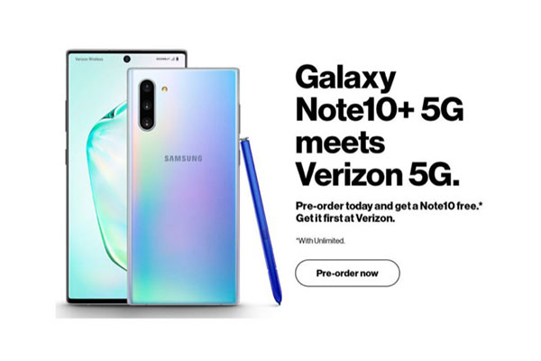 Lộ ảnh quảng cáo Galaxy Note10+ phiên bản 5G của Verizon