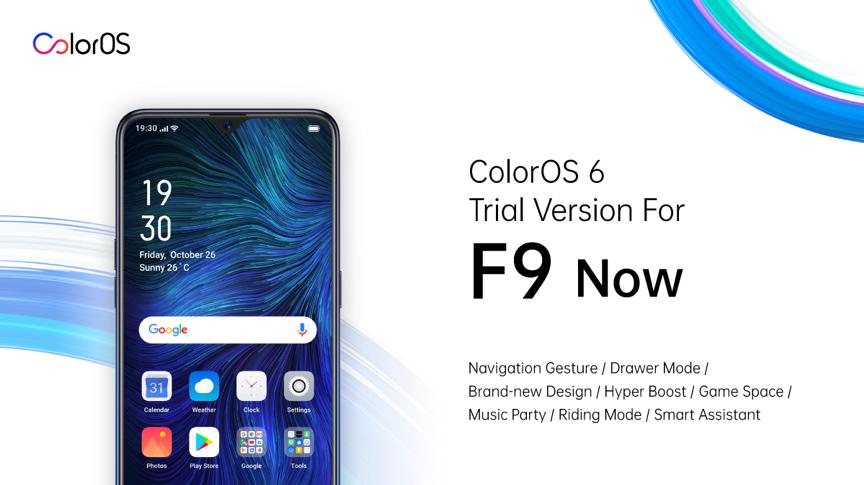 Oppo cập nhật bản thử nghiệm ColorOS 6 cho Oppo F9