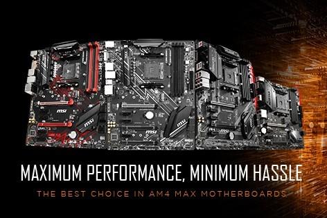 MSI tung ra loạt mainboard MAX AM4 300 và 400, hỗ trợ tối đa cho các CPU AMD Ryzen 3000 series