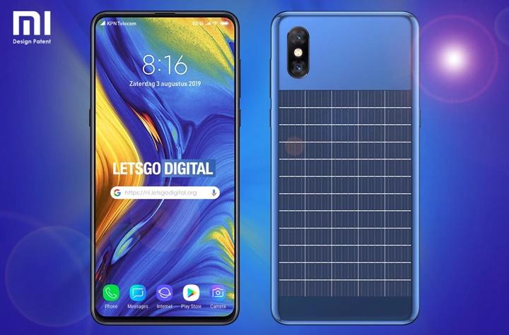 Xiaomi nhận bằng sáng chế smartphone với tấm năng lượng mặt trời ở sau lưng