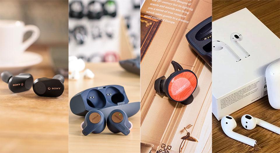 """""""Đại chiến"""" tai nghe true wireless: Sony WF-1000XM3 đối đầu Apple, Bose và Jabra"""