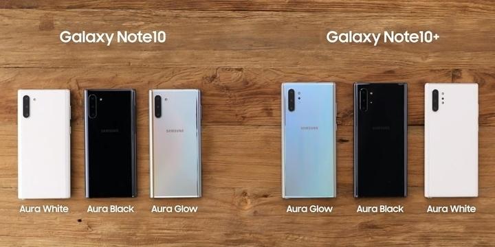 Galaxy Note 10 các màu