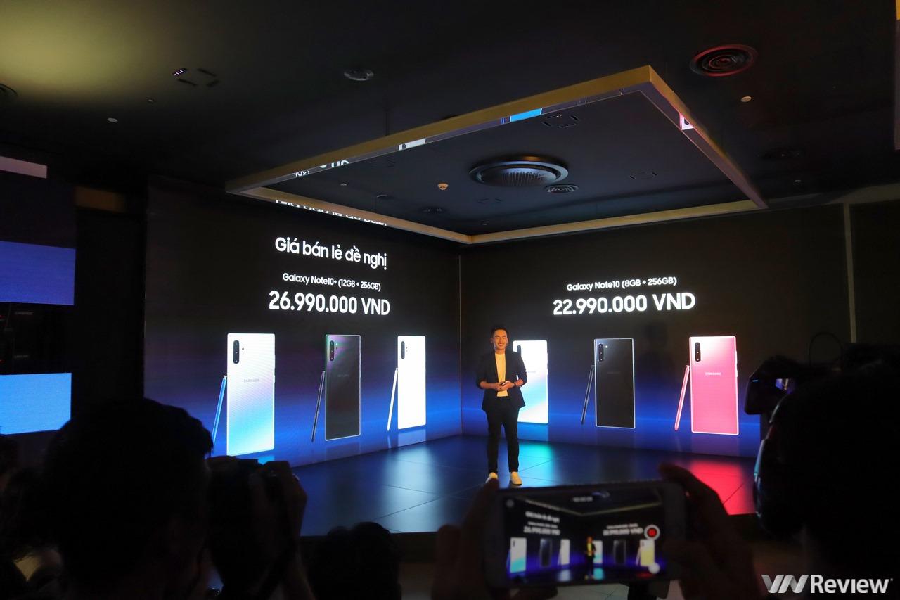 Note 10 và Note 10+ chính thức bán ra tại Việt Nam từ 23/8, giá lần lượt 23 và 27 triệu đồng
