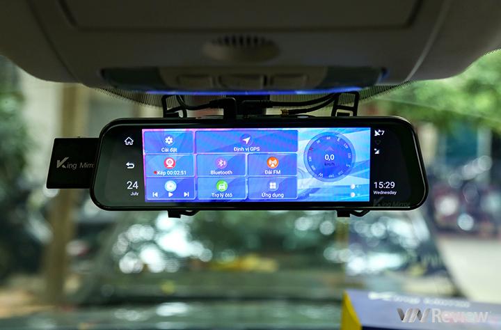 """Trên tay King Mirror 360: """"gương"""" hành trình đa năng chạy Android, giá 4.9 triệu đồng"""