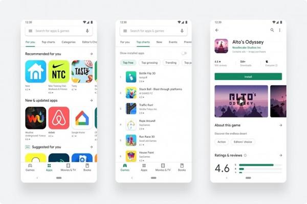 Phiên bản Google Play Store với thiết kế mới hiện đã có sẵn cho tất cả mọi người
