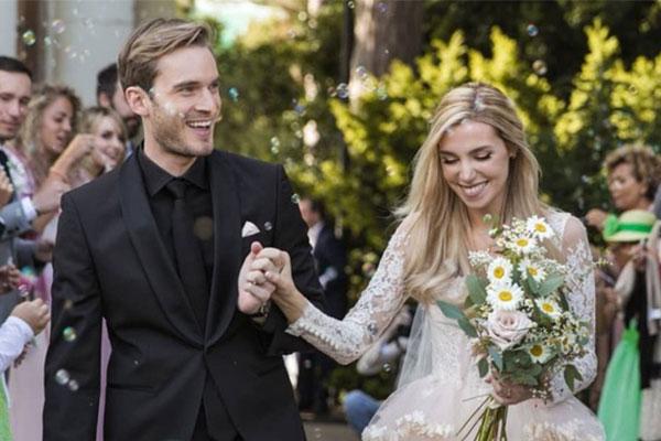 Ngắm ảnh cưới siêu hạnh phúc của Youtuber nổi tiếng PewDiePie