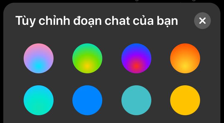 Thay đổi màu sắc cuộc trò chuyện