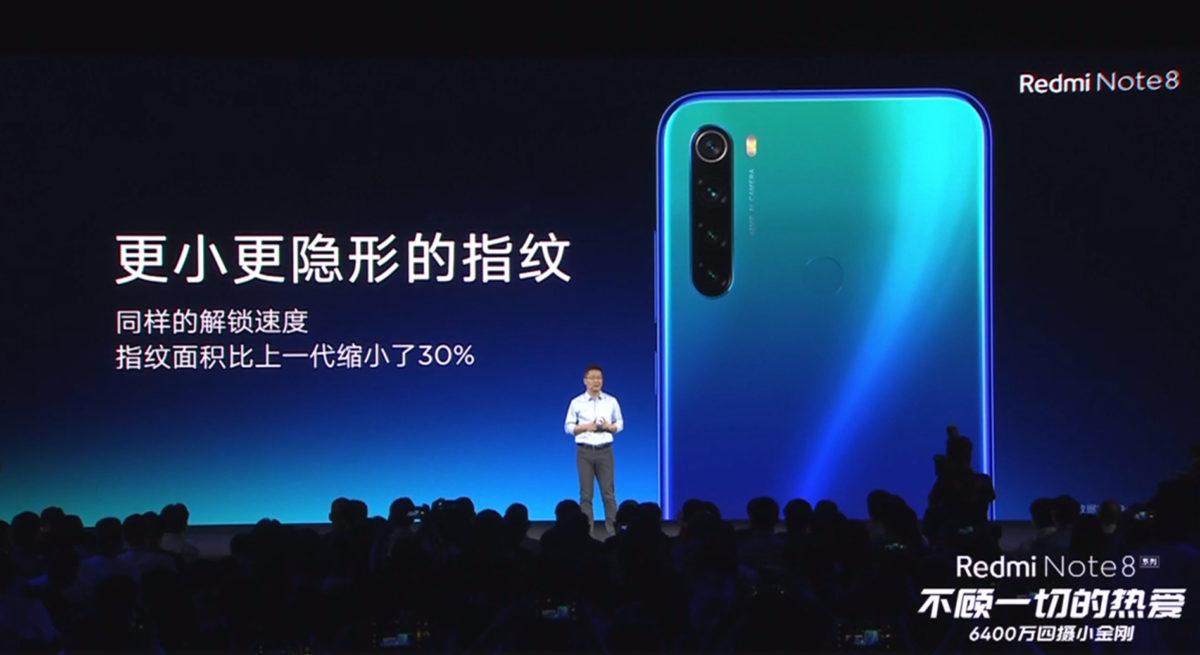 Xiaomi Redmi Note 8 ra mắt: 4 camera sau, camera chính 48MP Samsung, Snapdragon 665