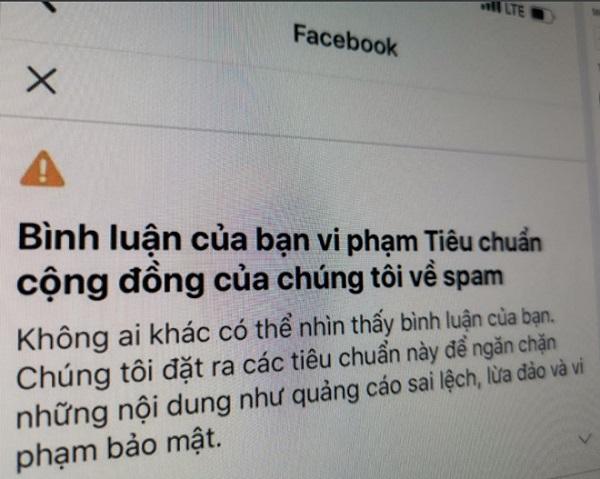 Nhiều người dùng VN bị Facebook khóa bình luận vô cớ