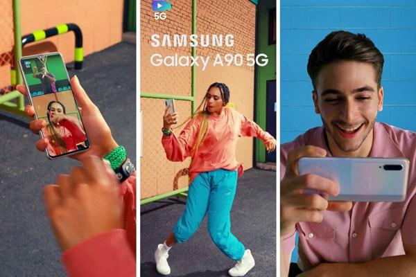 Galaxy A90 5G lộ video quảng cáo và hộp đựng: gần như anh em song sinh với A70, thêm kết nối 5G tốc độ cao