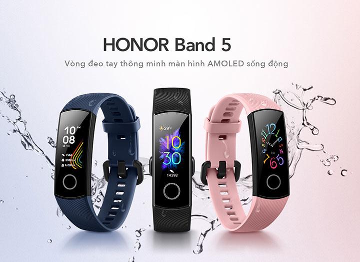Honor mở bán vòng đeo Honor Band 5 ở Việt Nam: giá 799.000 đồng, có cảm biến đo oxy trong máu